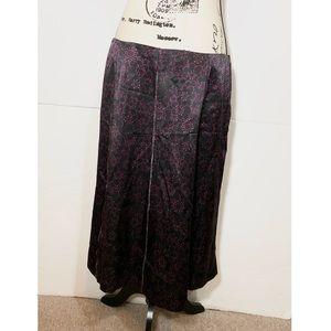 Perry Ellis Silk Floral Straight Skirt